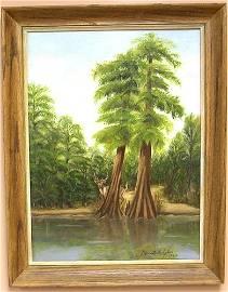 1020: Oil on Board by listed artist B. Metzler