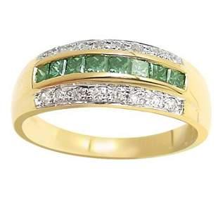 .40c blue diamond princess dia band ring