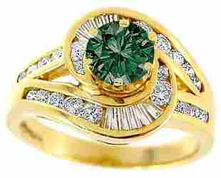 .55ct Blue Diamond .75ct Diamond chan ring