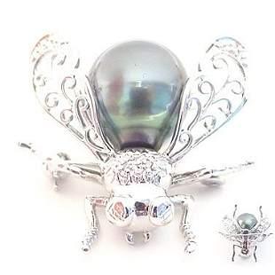 WG 10.5m Tahitian Pearl Dia Bug Pin