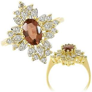 .75ct Tourmaline .28ct diamond antique ring
