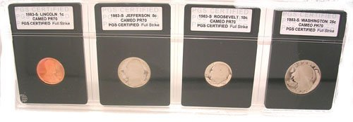 1614: 1983-S CERTIFIED SLABBED PROOF 4 COIN SET