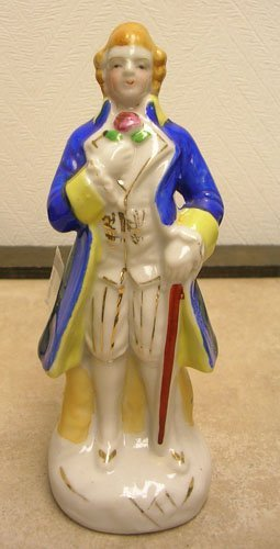 1621: Made in Occupied Japan Porcelain Victorian Gent