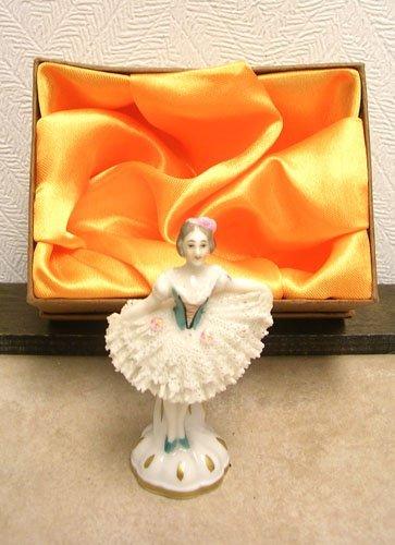8: Porcelain Mini Dresden Lady in Lace