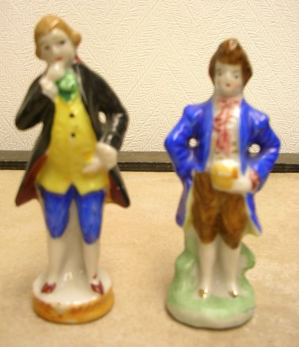 16: 2 PC Made in Occupied Japan Gentlemen Figurines