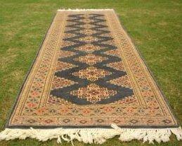 31006: Exotic Pak Uzbek Bokhara Runner Rug 8 x 3