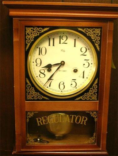 35041: Welby 31 Day Regulator Wall Clock w/ Pendulum