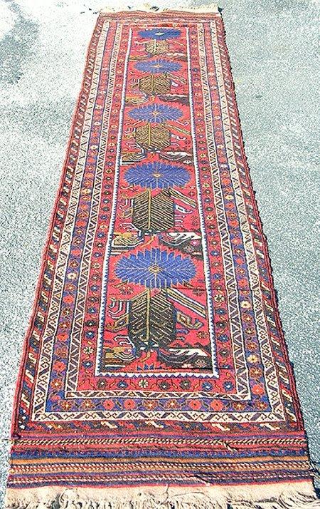 1998: Wonderful Persian Herati Rug 11 x 3