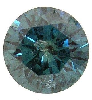 1913:  2.46ct turquoise blue diamond round I loose