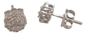 1915: 14KW .50cttw White Round-Cut Diamond Earrings