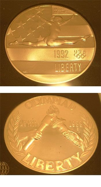 1919: SSilver 1992 S Olympic Coin INB certified