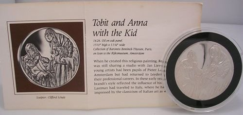 1921: SSilver Tobit and Anna w/ the Kid Rembrandt Medal