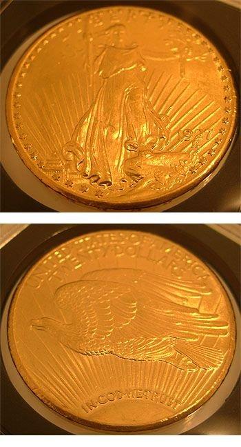 1989: 22KY 1927 Saint-Gaudens Double Eagle Coin