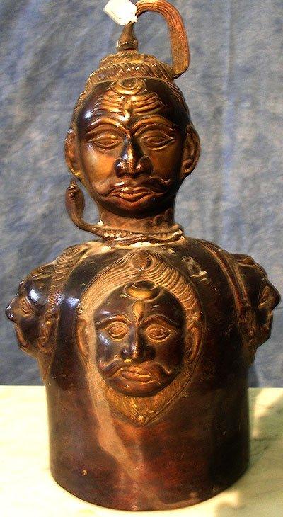 1270B: Bronze 5 Face Statue