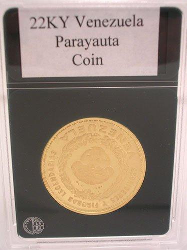 1318A: 22KY Parayauta Gold Venezuela Indian Chief Coin