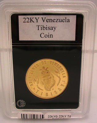 1318B: 22KY Tibisay Gold Venezuela Indian Chief Coin