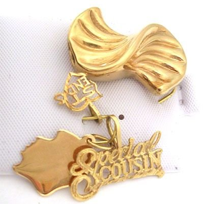 3205: 10/14KY 4 Set of Gold Pendants Charms