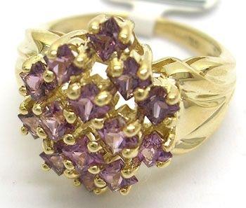 3208: 10KY 2ct Violet Spinel Ring