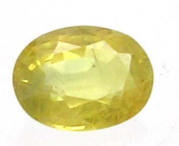 626: 1ct Lemon Yellow Sapphire Oval loose gem 7x5mm