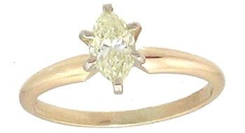 5914: 14kty .44ct Marquise Diamond Solitaire