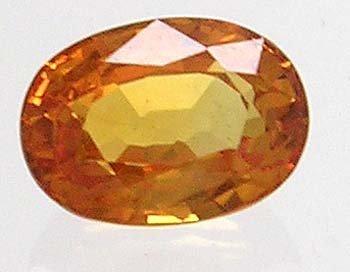 1205: 1ct Orange Sapphire Oval loose gem 7x5mm