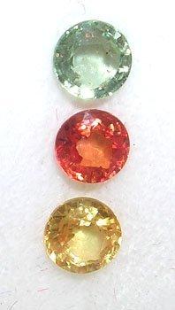 1206: 1.75 ct Mix Sapphire Round Parcel 3 pieces