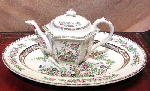 1922: Sadler IndianTREE/FLORAL teapot bengaltree plater