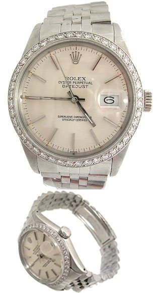 2042: Rolex Jubilee Datejust Watch Band Stainless Steel