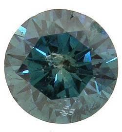 715: 2.46ct turquoise blue diamond round loose APPRAISA