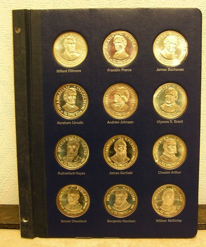 31005: 12Pc. SSilver Presidential Commemorative Medals