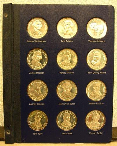 31006: 12Pc. SSilver Presidential Commemorative Metals