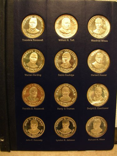 31007: 12Pc. SSilver Presidential Commemorative Medals