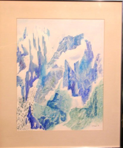 1B: Watercolor on Paper by listed artist Leslie Pearson