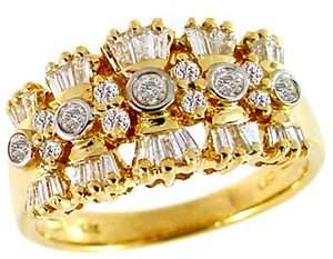 .65ct diamond bagguette band ring