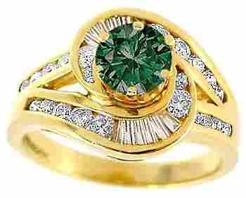 2002: .62ct Blue Diamond .75ct Diamond chan ring