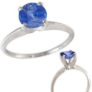 WG 1.58ct Ceylon Blue Sapphire solitaire estate r
