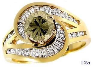 1.01ct. Diamond + .75ct Diamond channel ring