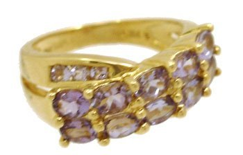 1901: 14KY 2.30cttw Tanzanite Oval Rd Cluster Ring