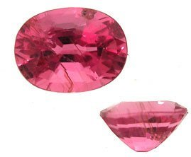1920: 3.38ct RED Rubelite A Tourmaline Oval APPRAISED $
