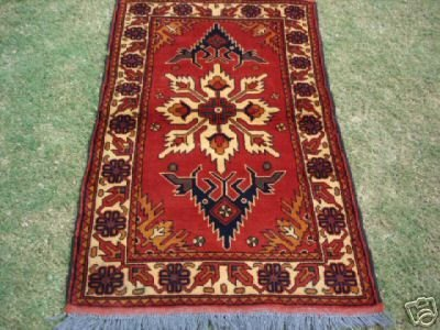 42000: Veg Dyed S.Antique Caucasian Kargai Rug 4 x 3