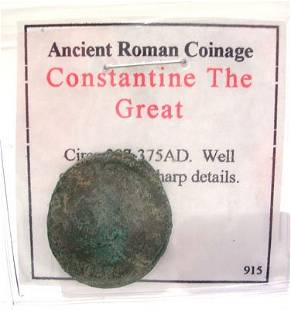 Ancient Roman Constantine The Great Coin