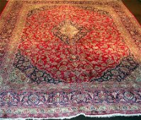 949: Masterpiece Persian Mashad Carpet 13x9