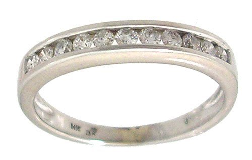 1201: 14KW .44cttw Round Diamond Band Ring