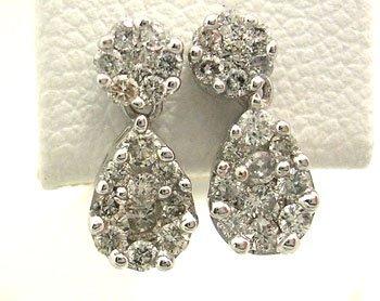 1202: 14KW .50cttw Diamond Dangle drop Earrings
