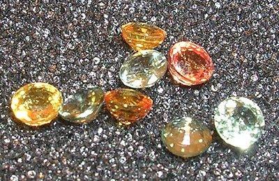 1203: 3ct Mix Sapphire 4+m Round Parcel 8 piece