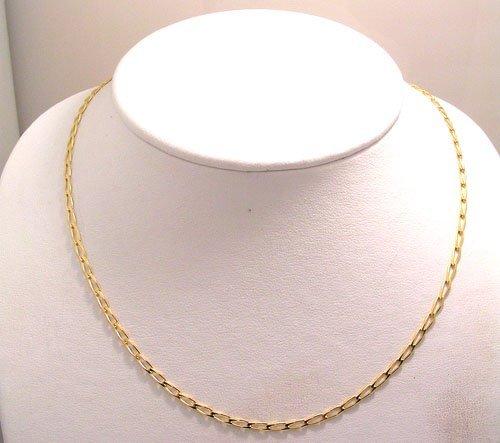 1211: 14KY Italian oval Curb link chain 18inch 6.6 gram