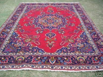 1249J: Exotic S.Antique Persian Kashan Rug 11 x 8