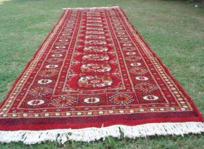 1327: Perisan Pak Uzbek Bokhara Runner Rug 9 x 3