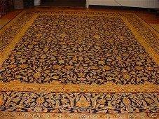 799: SUPER ANTIQUE PERSIAN KASHAN RUG 13x10