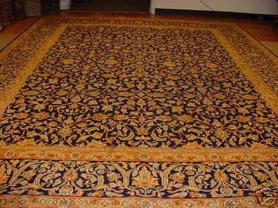 799: SUPER ANTIQUE PERSIAN KASHAN RUG 13x10